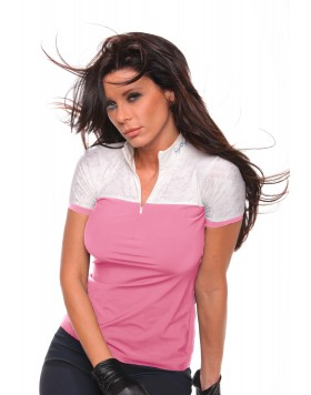 Дамска блуза за състезания, розова