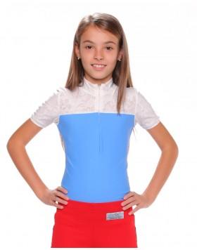 Детска блуза за състезания, светло синя