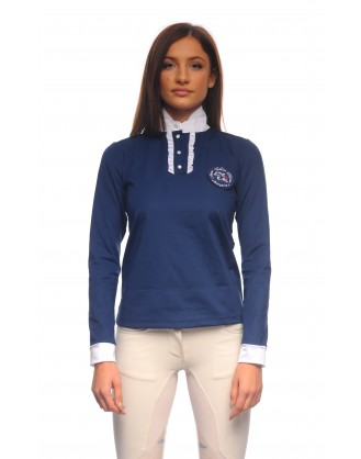 Блуза за състезания с дълъг ръкав, синя