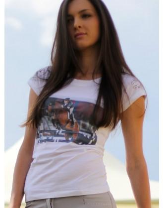 Дамска тениска, бяла