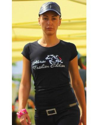 Дамска тениска, черна