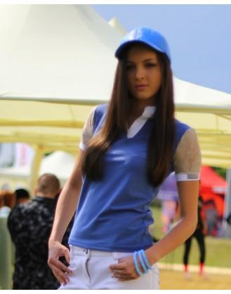 Дамска блуза за състезания, синя