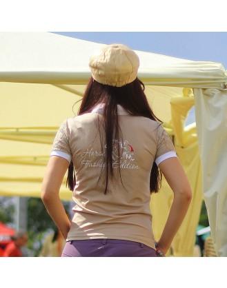 Дамска блуза за състезания, бежова