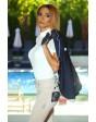 Дамска блуза за състезания, бяла с бяла дантела
